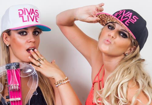 Fotos do duo de Djs Divas Live