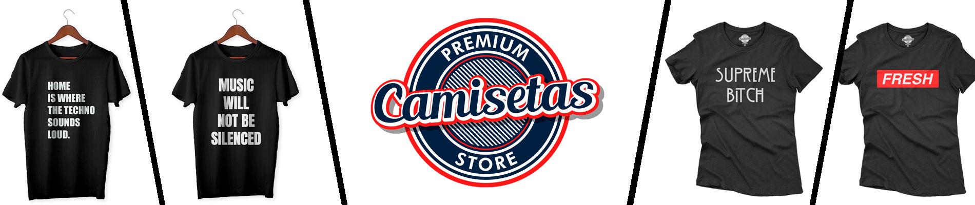Banner da loja de camisetas online Camisetas Store